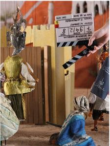 Installationsaufnahme der Dreharbeiten: Wael Shawky, Cabaret Crusades III: The Secrets of Karbalaa, 2014, Courtesy the artist and Sfeir-Semler Gallery Beirut/Hamburg, Foto: Kunstsammlung