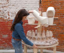 Ariane Prin / Water cups fountain
