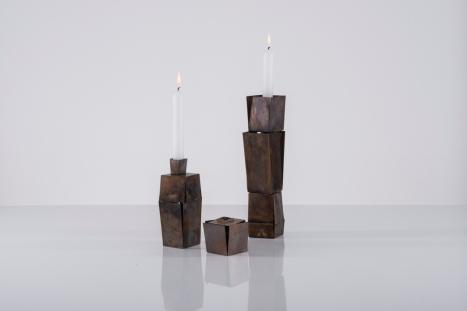 Anne Fischer, Kerzenleuchterobjekte, Tombak