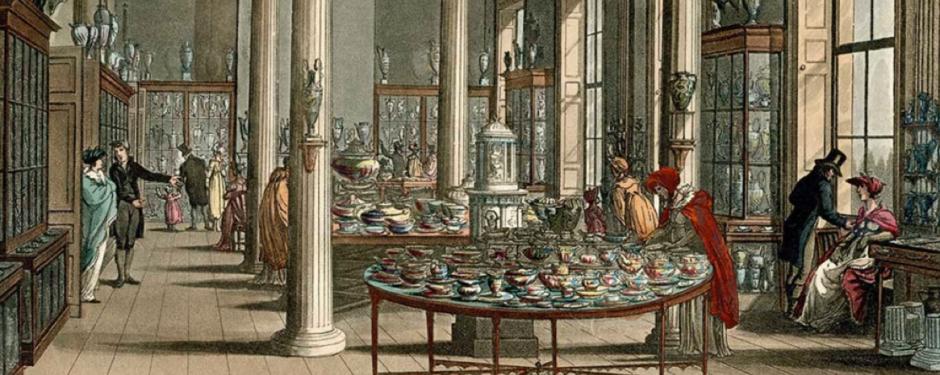 shopping bei Wedgwood vor 250 Jahren