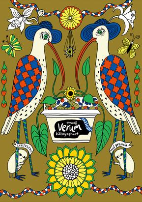 Maja Sten für Verum Joghurt