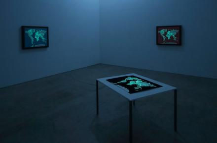 Satoru Aoyama, Maps of the World on display