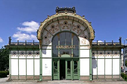 Stadtbahnstation Karlsplatz (1899) Foto von Clemens Pfeiffer: Lizenz