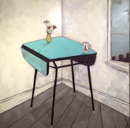 Jo Oakley, Daisies and calendula, 82 x 82 cm