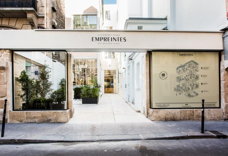 Eingang Concept Store Empreintes des Metier's d'Art Foto: Claude Weber