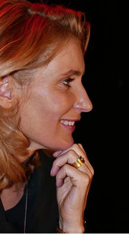 Mit Leibniz- Ring: Maria Furtwängler am 31.10.2016