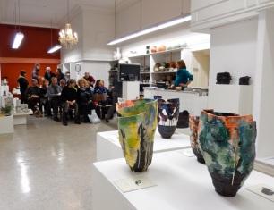 Elke Sada: Ausstellungseröffnung | Galerie terrarossa Leipzig Foto: Schnuppe von Gwinner