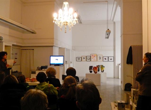 Elke Sada: Ausstellungseröffnung Galerie terrarossa Leipzig Foto: Schnuppe von Gwinner