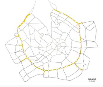 Giulia Savono: Milano 1:20.000, 2017 Palladium, Silber plattiert, Rhodium Silber plattiert , Silber oxidiert, Plexiglas, montiert, 37,3 x 33,7 cm, 155,7 Gramm