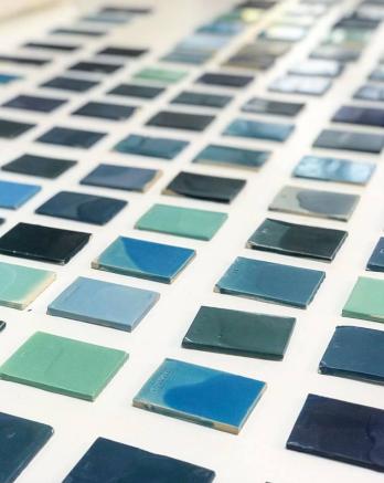 Mathieu Lehanneur   Glasurproben   50 Seas Farbschatterungen