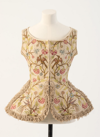 Embroidered woman's waistcoat, 1700s