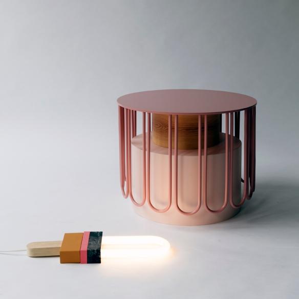 STUDIO OINK, Leipzig: side table TUTU & Leuchte LIGHT POPP