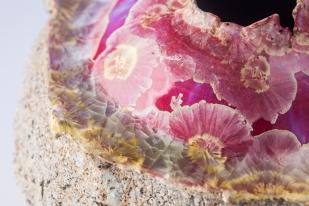 Ricus Sebes, Porzellangefäß mit Kristallglasur, Detail