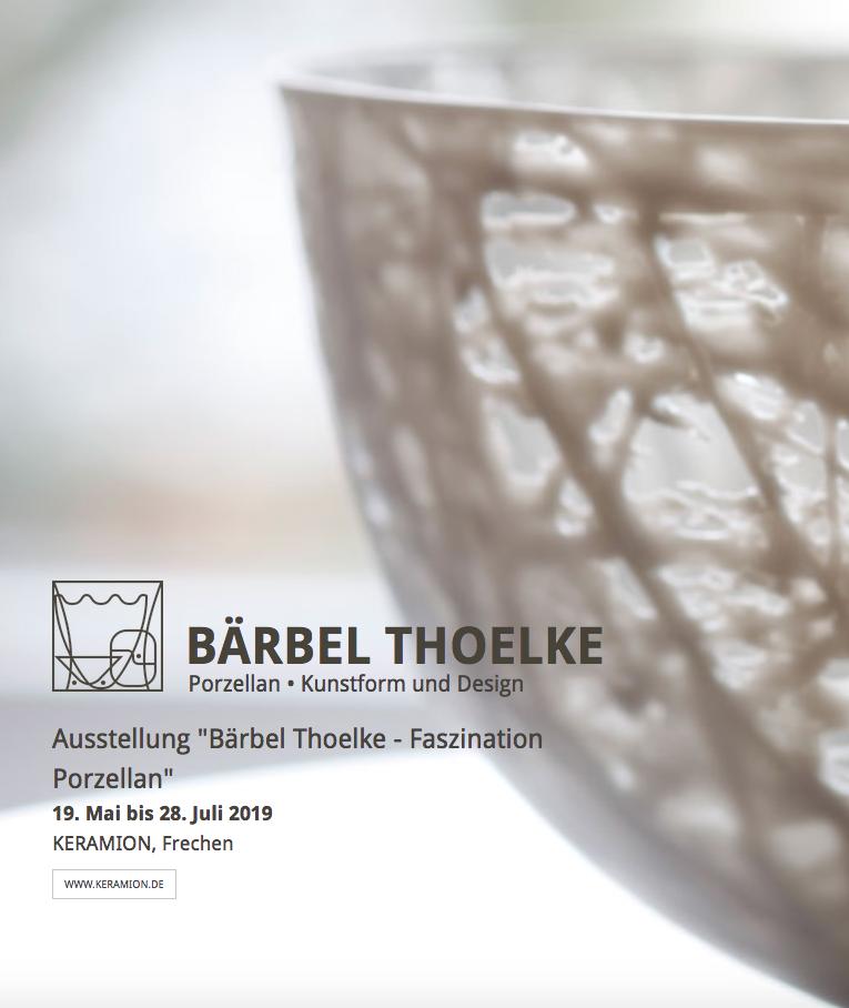 Bärbel Thoelke – Faszination für Porzellan: Frechen vom 19.05. bis 28.07.2019