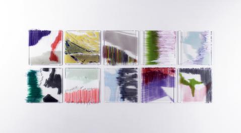 "Sun Ju Lee, ""Enfolded Surface"" (umfasste Oberfläche), 2017, variable Maße (jedes Bild ca. 30 × 30 cm), Foto: Sun Ju Lee"