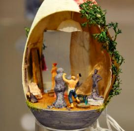 Edda Henschel Bildhauer im Ei