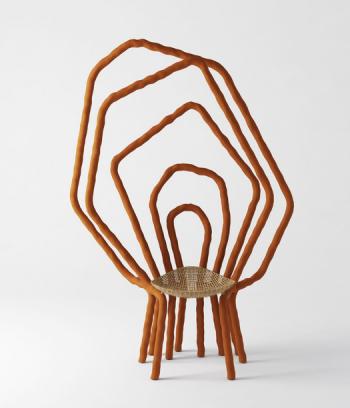 Willowy chair, Sayar & Garibeh 2020, wicker and clay © Mike Malajalian Courtesy of Sayar & Garibeh