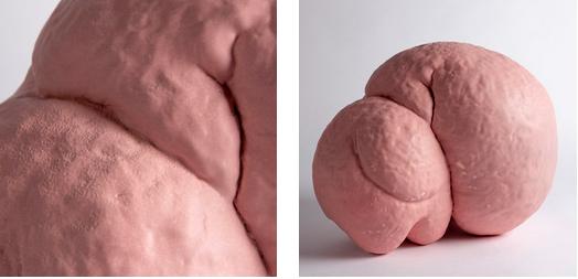 """Isabelle Mackay-Sim, Australien: Objektdestails aus der Serie """"The Dream of Flesh""""; Irdenware, aufgebaut, glasiert;"""